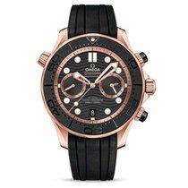 Omega Seamaster Diver 300 M Rose gold 44mm Black No numerals