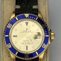 Rolex Submariner Date Oro amarillo 40mm Champán Sin cifras