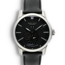Maurice Lacroix Pontos pre-owned 40mm Black Date GMT Calf skin