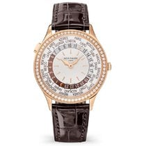 Patek Philippe World Time Rose gold 36mm Silver No numerals