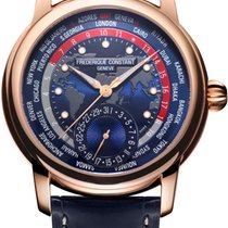 Frederique Constant Yellow gold Automatic new Manufacture Worldtimer