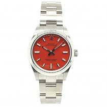 Rolex Oyster Perpetual Steel 31mm Red