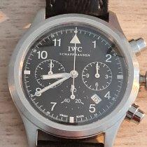 IWC Fliegeruhr Chronograph Stahl Schwarz Arabisch Schweiz, Elsau