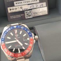 TAG Heuer Aquaracer 300M gebraucht Schwarz Datum GMT/Zweite Zeitzone Stahl