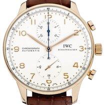 IWC Portuguese Chronograph Žluté zlato Stříbrná Arabské