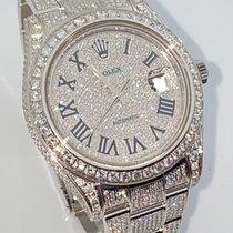 Rolex Datejust II Zeljezo 41mm Srebro (masivno) Rimski brojevi