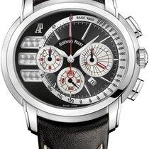 Audemars Piguet Millenary Chronograph Staal 47mm Zwart Geen cijfers