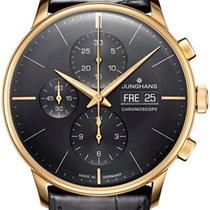Junghans Yellow gold Automatic new Meister Chronoscope