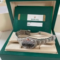 Rolex Oyster Perpetual 36 Steel 36mm Bordeaux Arabic numerals