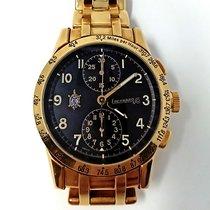 Eberhard & Co. Yellow gold Automatic Black Arabic numerals 39,00mm pre-owned Tazio Nuvolari