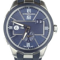 Ulysse Nardin Executive Dual Time Steel 42mm Blue United States of America, Illinois, BUFFALO GROVE