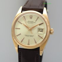 Rolex Or rouge Remontage automatique Argent 34.5mm occasion Oyster Perpetual Date