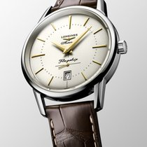 Longines Steel Automatic Silver No numerals 38.5mm new Flagship Heritage