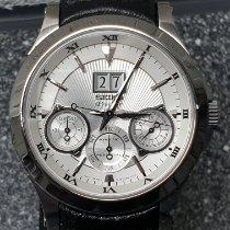 Seiko Premier Kinetic Perpetual Steel 43mm Silver Arabic numerals