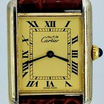 Cartier Tank Vermeil Cеребро 23mm Цвета шампань Римские