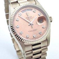 Rolex Day-Date 36 usados 36mm Bronce Fecha Día de la semana Oro blanco