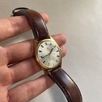 Omega Genève pre-owned 35mm Silver Leather