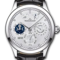 Jaeger-LeCoultre Master Eight Days Perpetual pre-owned 40mm Silver Date Crocodile skin