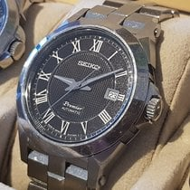 Seiko Premier Automatic Steel 42mm Black Roman numerals