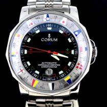 Corum Admiral's Cup (submodel) occasion Noir Date Acier