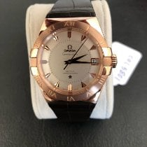 Omega Red gold Automatic Silver 38mm pre-owned Constellation Men