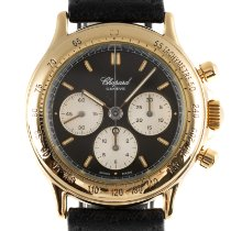 Chopard Yellow gold Manual winding Black 37mm pre-owned Mille Miglia