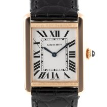 Cartier Tank Solo Red gold 24.5mm Silver