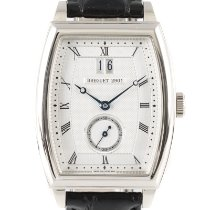 Breguet pre-owned Automatic 41.5mm Silver Sapphire crystal