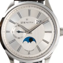 Zenith Captain Moonphase Stal 40mm Srebrny