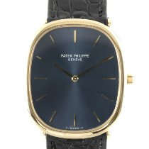 Patek Philippe Golden Ellipse Yellow gold 35mm Blue