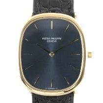 Patek Philippe Golden Ellipse Geelgoud 35mm Blauw