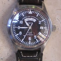 IWC Pilot Spitfire UTC Сталь Черный Aрабские