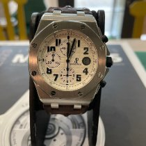 Audemars Piguet Royal Oak Offshore Chronograph occasion 42mm Blanc Chronographe Date Acier