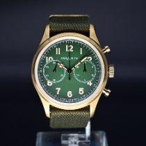 万宝龙 1858 青銅 42mm 綠色 阿拉伯數字