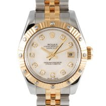 Rolex Lady-Datejust Goud/Staal 26mm Parelmoer