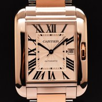 Cartier Tank Anglaise Stahl Silber