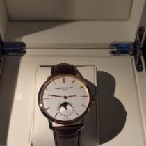Frederique Constant Manufacture Slimline Moonphase pre-owned 42mm Silver Moon phase Date Crocodile skin