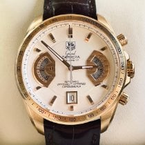 TAG Heuer Rose gold Automatic White 43mm pre-owned Grand Carrera