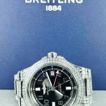 Breitling Superocean GMT Steel 41mm Black Arabic numerals