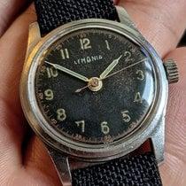 Lemania Steel Manual winding Black Arabic numerals 32mm pre-owned