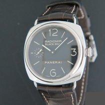 Panerai Radiomir Black Seal pre-owned 45mm Black Crocodile skin
