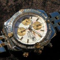 Breitling Chronomat Evolution usados 44mm Blanco Cronógrafo Fecha Acero y oro