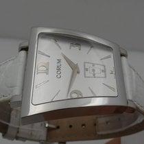 Corum Trapeze Steel 34mm Silver Arabic numerals