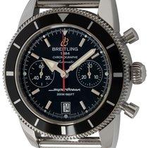 Breitling Superocean Heritage Chronograph подержанные 44mm Черный Хронограф Дата