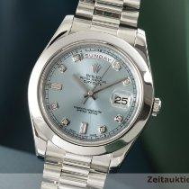Rolex Day-Date II Platina 41mm Kék