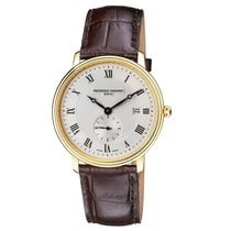 Frederique Constant Slimline Gents Steel 39mm Silver Roman numerals United States of America, New Jersey, Somerset
