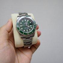 劳力士 Submariner Date 钢 40mm 绿色 无数字