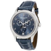 Patek Philippe White gold Automatic Blue Arabic numerals 38mm new Annual Calendar