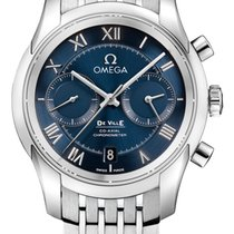 Omega De Ville Co-Axial Acero 42mm Azul