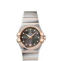 Omega Constellation Ladies Gold/Steel 27mm Mother of pearl